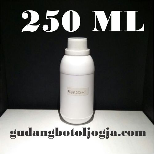Botol Hdpe 250 ML Putih Doff