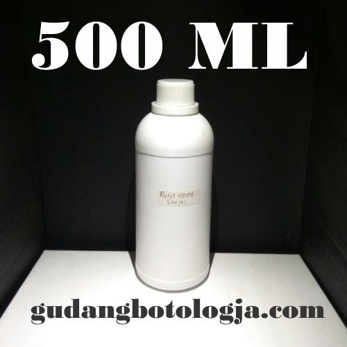 Botol Hdpe 500 ML Putih Doff