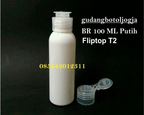 Botol BR 100 ML Putih Fliptop T2