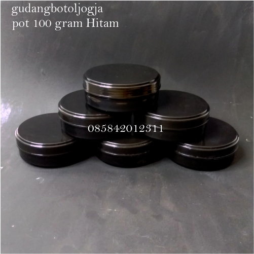 POT 100 Gram Hitam, Lulur Pomade Leather Care